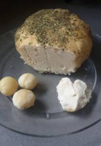 queso tierno nuces de macadamia